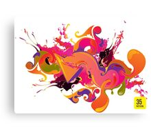 artistic Background of paint vibrant colors Canvas Print