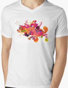 artistic Background of paint vibrant colors Mens V-Neck T-Shirt