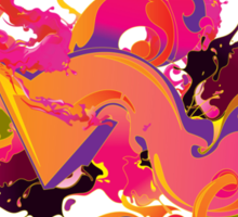 artistic Background of paint vibrant colors Sticker