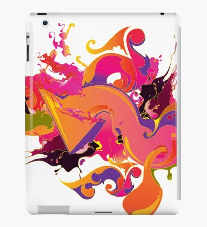 artistic Background of paint vibrant colors iPad Case/Skin