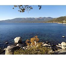 Fall Comes to Lake Tahoe Photographic Print