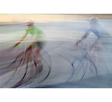 Cyclists, blurry Photographic Print