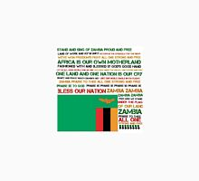 Zambian national anthem w/flag Unisex T-Shirt
