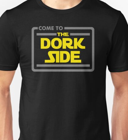 Come To The Dork Side Funny Black Men's Tshirt Unisex T-Shirt