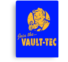 Join Vault-Tec Canvas Print