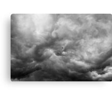 Flying through the storm Canvas Print