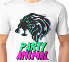Party Animal-Neon green & pink Unisex T-Shirt