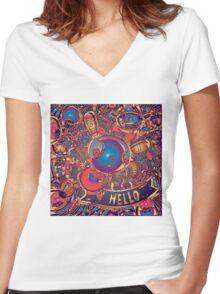 hello rabbit Women's Fitted V-Neck T-Shirt