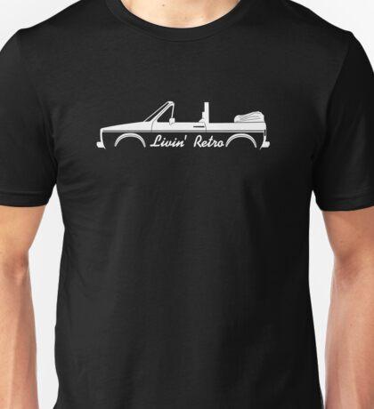 Livin' Retro for VW Golf / Rabbit Mk1 convertible  Unisex T-Shirt