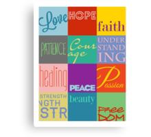 12 Boxes -- Inspirational Design Canvas Print