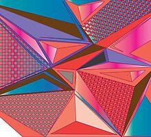 Geometric triangle pattern by singpentinkhepi