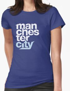Manchester City Football Club - TEXT Womens Fitted T-Shirt