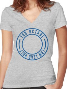 100LL - Avgas Women's Fitted V-Neck T-Shirt
