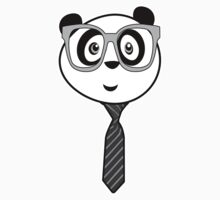 Panda Nerd - Black and White Kids Clothes