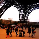 Tourists At The Eiffel Tower by AussieDigital