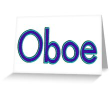 Oboe Font Greeting Card