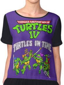 TMNT Turtles In Time (SNES) Chiffon Top