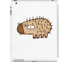Funny little cartoon hedgehog iPad Case/Skin