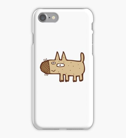Little funny cartoon dog iPhone Case/Skin