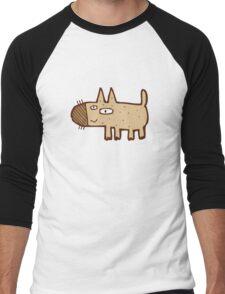 Little funny cartoon dog Men's Baseball ¾ T-Shirt