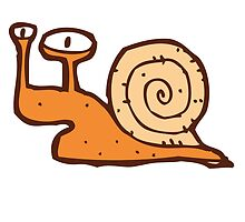 Cute funny cartoon snail by berlinrob