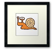Cute funny cartoon snail Framed Print