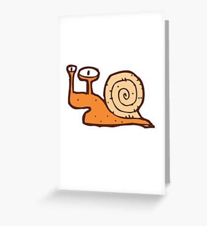 Cute funny cartoon snail Greeting Card