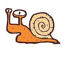 Cute funny cartoon snail Photographic Print