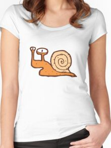 Cute funny cartoon snail Women's Fitted Scoop T-Shirt