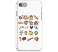 Miscellaneous drawn design elements iPhone Case/Skin