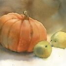 Stil-life with pumpkin by Sergei Kurbatov