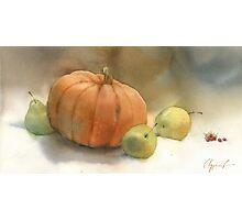 Stil-life with pumpkin Photographic Print