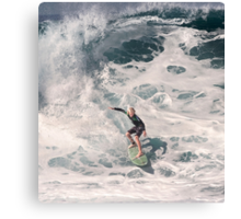John John Florence 2006: Surfing The Pipeline at 13. Canvas Print