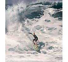 John John Florence 2006: Surfing The Pipeline at 13. Photographic Print