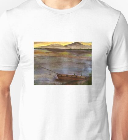 Canoe at Sunset Unisex T-Shirt