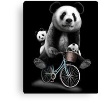panda bike Canvas Print