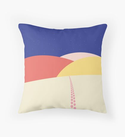 A Night in the Dunes Throw Pillow