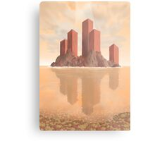 Red Fortress Metal Print