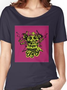 enjoy sport and music Women's Relaxed Fit T-Shirt