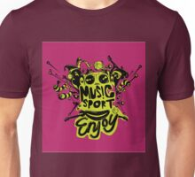 enjoy sport and music Unisex T-Shirt