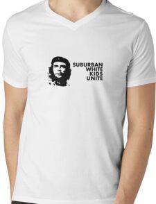 Suburban White Kids Unite Mens V-Neck T-Shirt