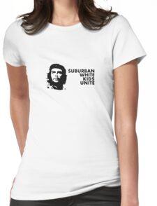 Suburban White Kids Unite Womens Fitted T-Shirt