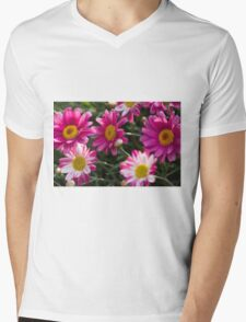 colored daisy in spring Mens V-Neck T-Shirt