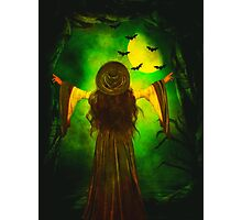 Moon of the Green Witch Photographic Print