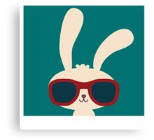 Cool easter bunny with sunglasses Canvas Print