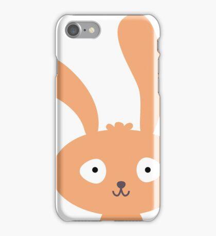 Funny cartoon bunny smiling iPhone Case/Skin