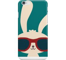 Cool easter bunny with sunglasses iPhone Case/Skin