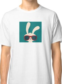 Cool easter bunny with sunglasses Classic T-Shirt