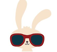 Cute easter bunny with sunglasses by berlinrob