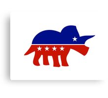 Triceratops Political Logo Canvas Print